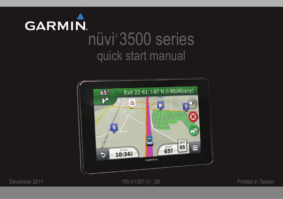 Garmin nuvi 3590LMT User Manual | 8 pages
