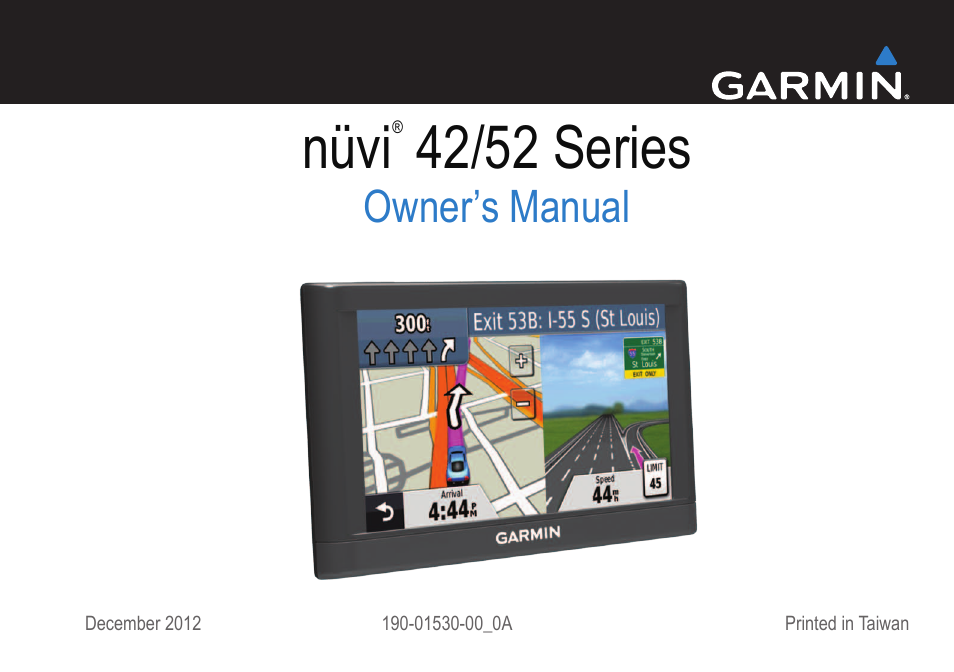 Garmin Nuvi 54lm User Manual 32 Pages
