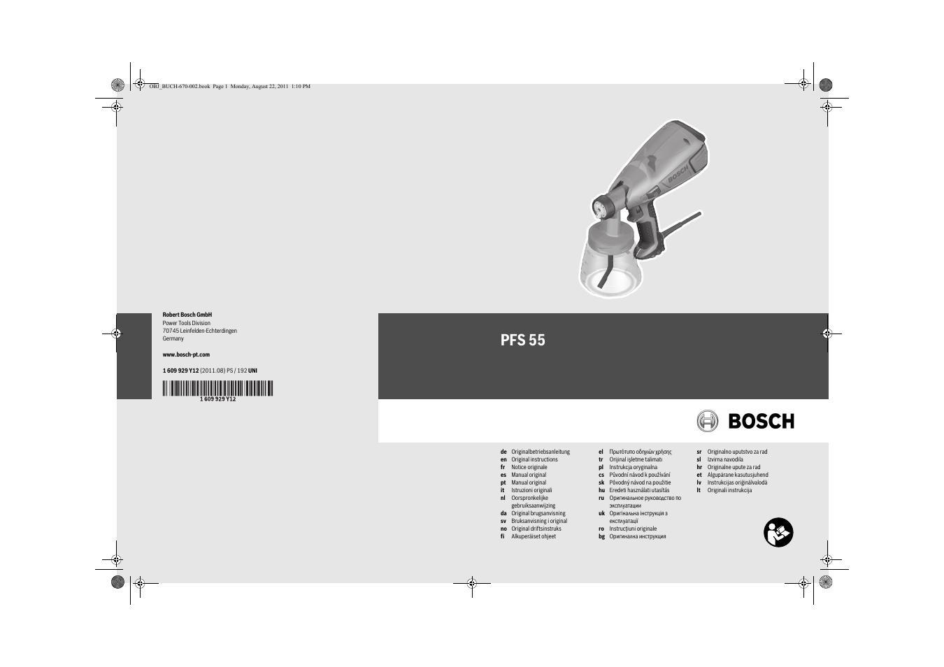 Deutsch, sicherheitshinweise | bosch pfs 55 user manual | page 7.