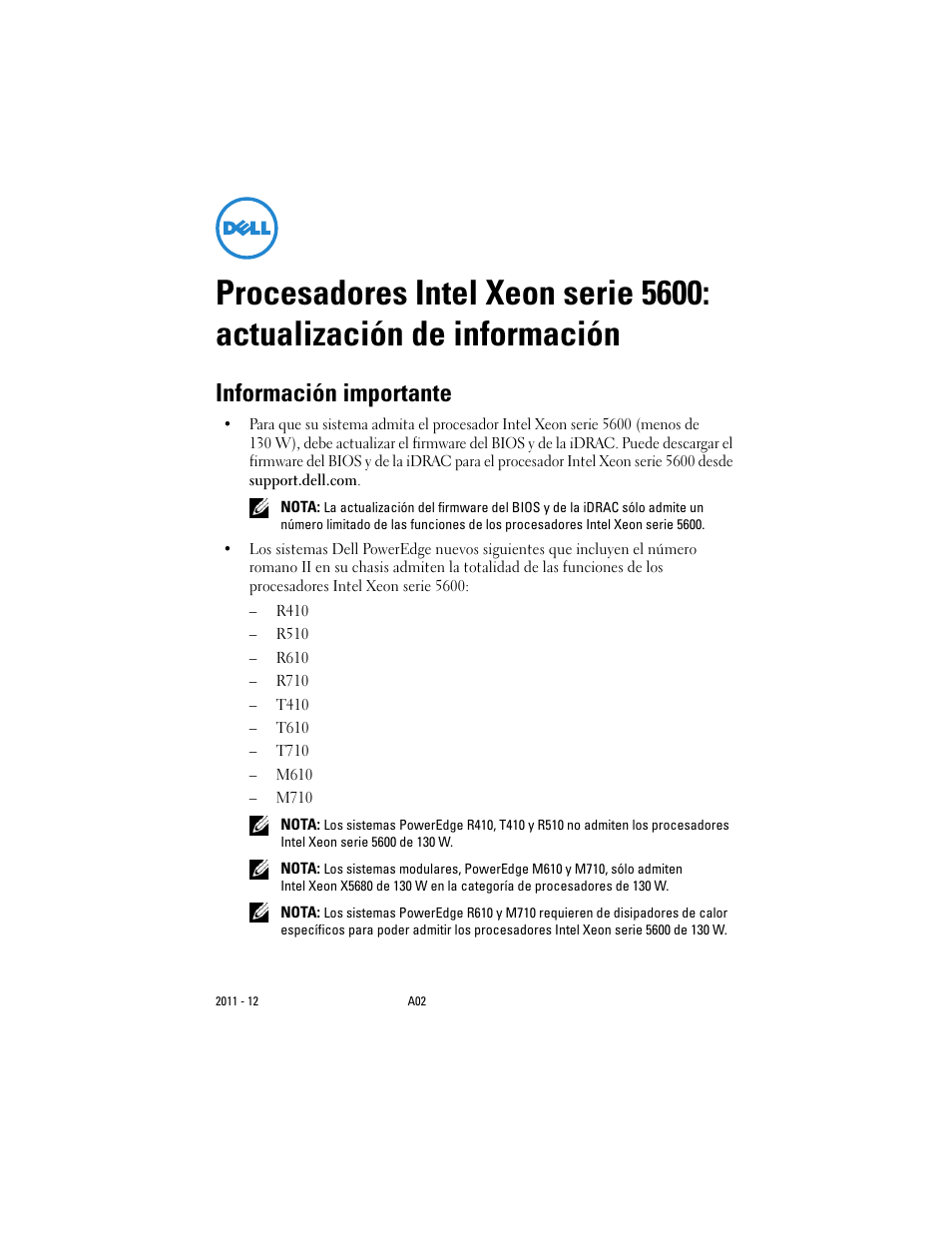 informaci n importante dell poweredge r710 user manual page 33 rh manualsdir com Dell PowerEdge T320 Onboard USB dell poweredge r710 systems hardware owner's manual
