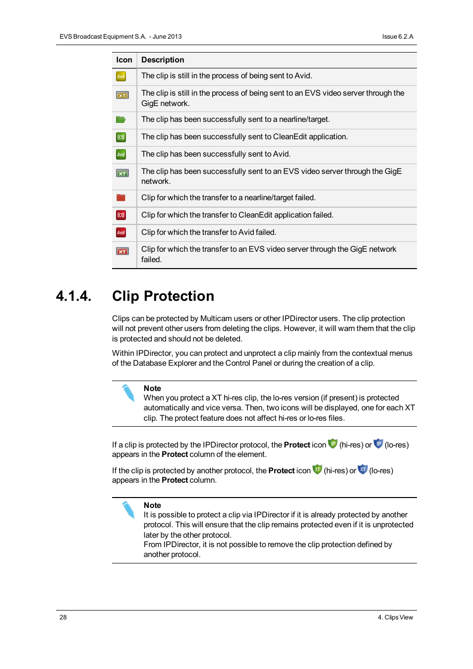 Clip Protection Evs Ipdirector Version 62 June 2013 Database And Application Explorer User Manual Page 40 126