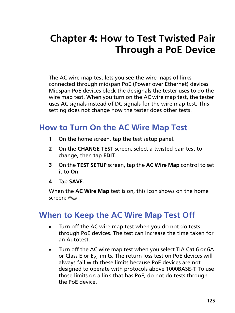 How to turn on the ac wire map test, When to keep the ac wire map ...