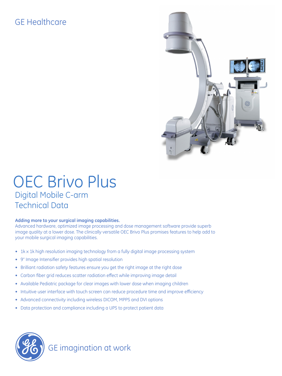 Ge Healthcare Oec Brivo Plus User Manual 4 Pages