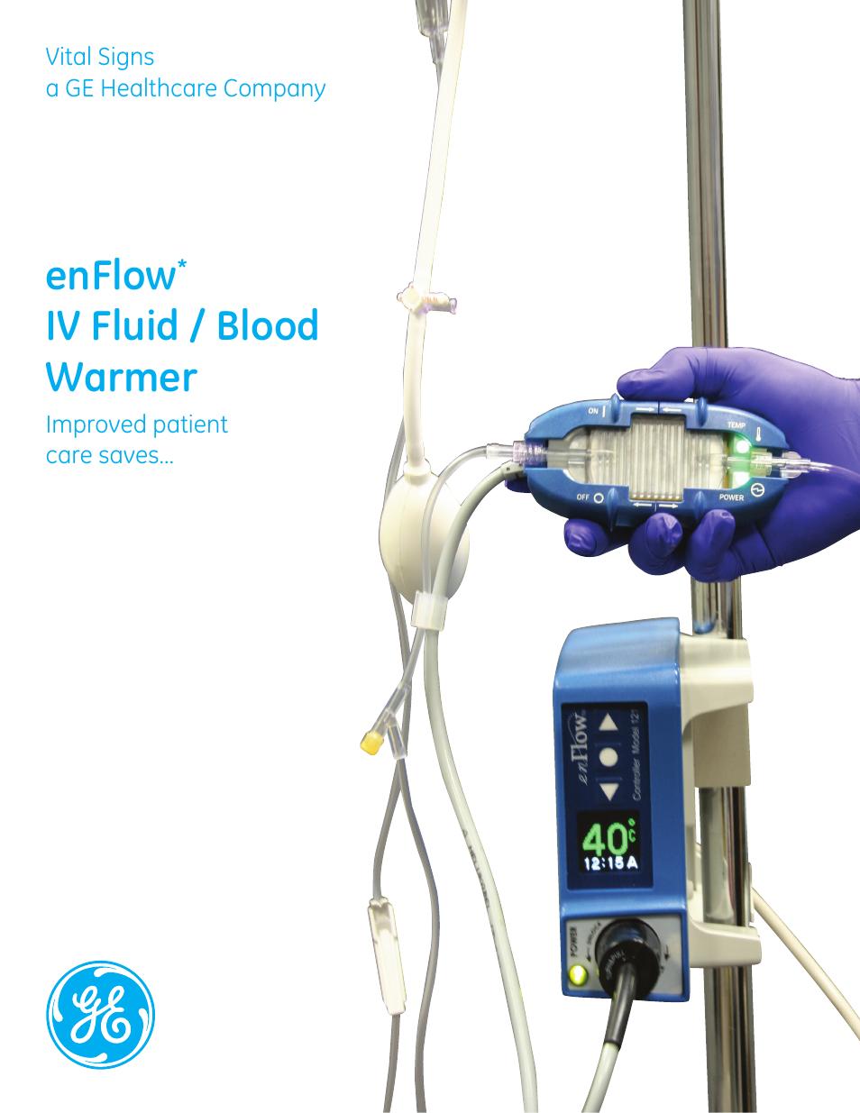 ge healthcare enflow iv fluid and blood warmer
