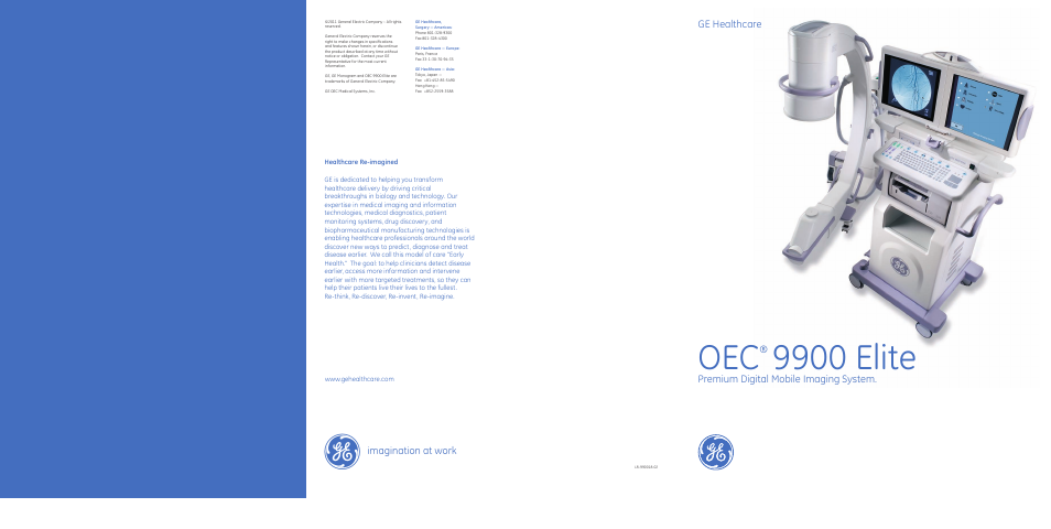 Ge Healthcare Oec 9900 Elite User Manual 14 Pages