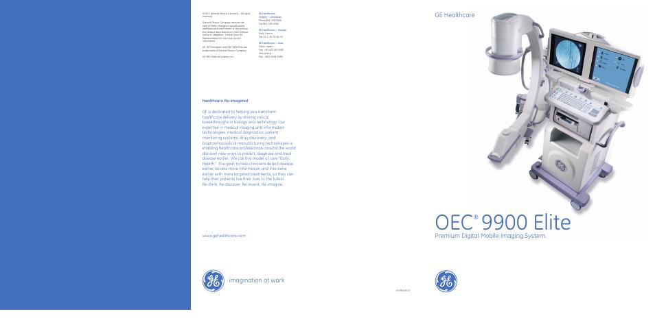 Ge Healthcare Oec 9900 Elite User Manual