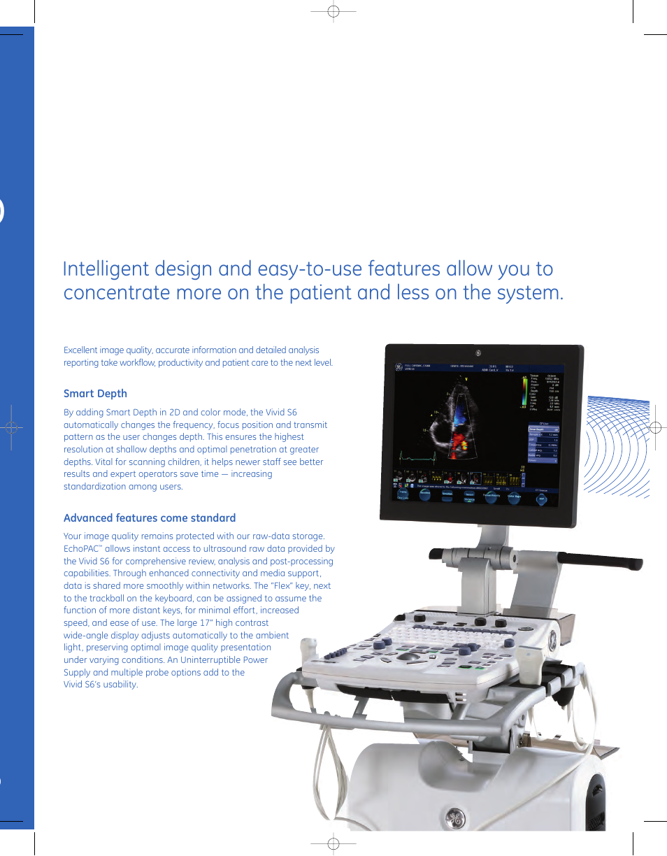 GE Healthcare Vivid S6 Cardiovascular ultrasound system Brochure User Manual  | Page 9 / 12