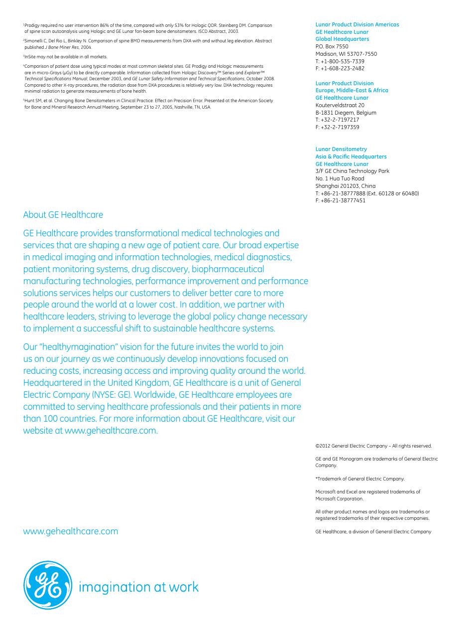 GE Healthcare Prodigy User Manual | Page 8 / 8 | Original mode