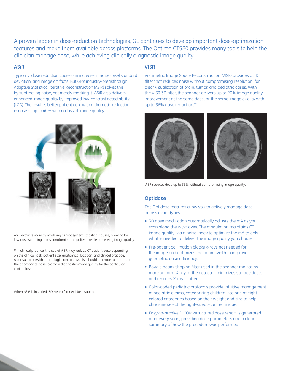 optidose visr asir ge healthcare optima ct520 user manual page rh manualsdir com Types of Scanners GE Old GE MRI Scanners