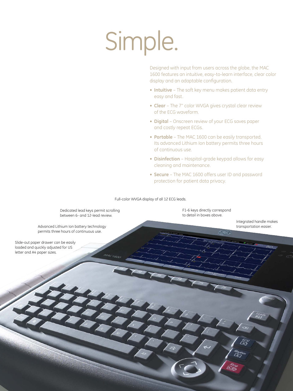 simple ge healthcare mac 1600 ecg user manual page 3 8 rh manualsdir com ge mac 1600 service manual GE EKG