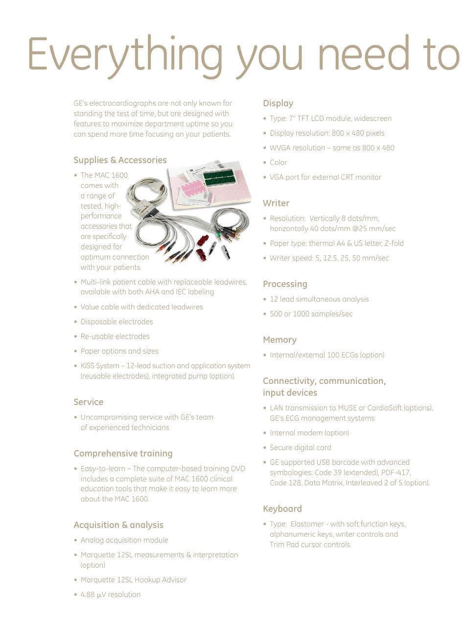everything you need to stay productive ge healthcare mac 1600 ecg rh manualsdir com GE Medical ge mac 1600 user manual