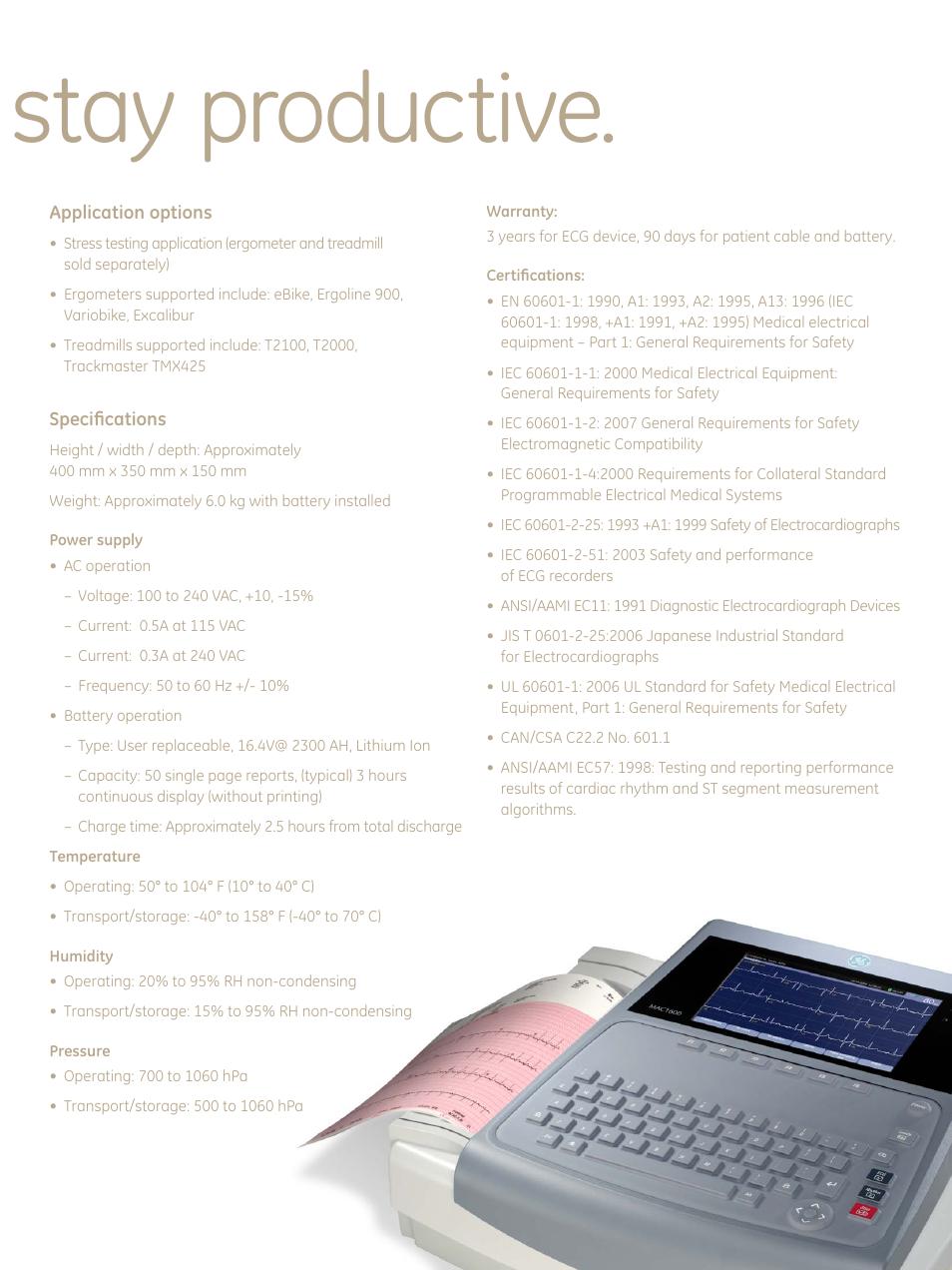 everything you need to stay productive ge healthcare mac 1600 ecg rh manualsdir com GE EKG ge mac 1600 user manual