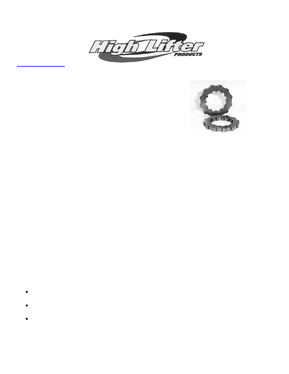 High Lifter SPOOL LOCKER HONDA ATV User Manual | 8 pages