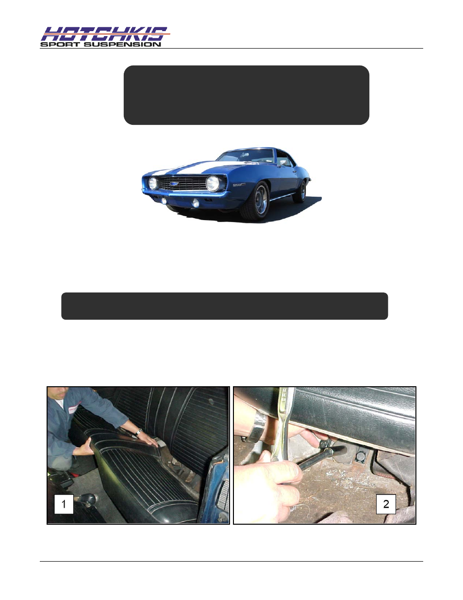 Hotchkis 1415 Chassis, Max Sway Bar Brace, 67-69 Camaro-Firebird F-Body  User Manual | 13 pages