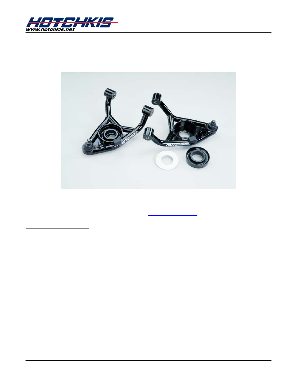 Hotchkis 1104 Tubular Lower A-Arms 64-72 GM A-Body User