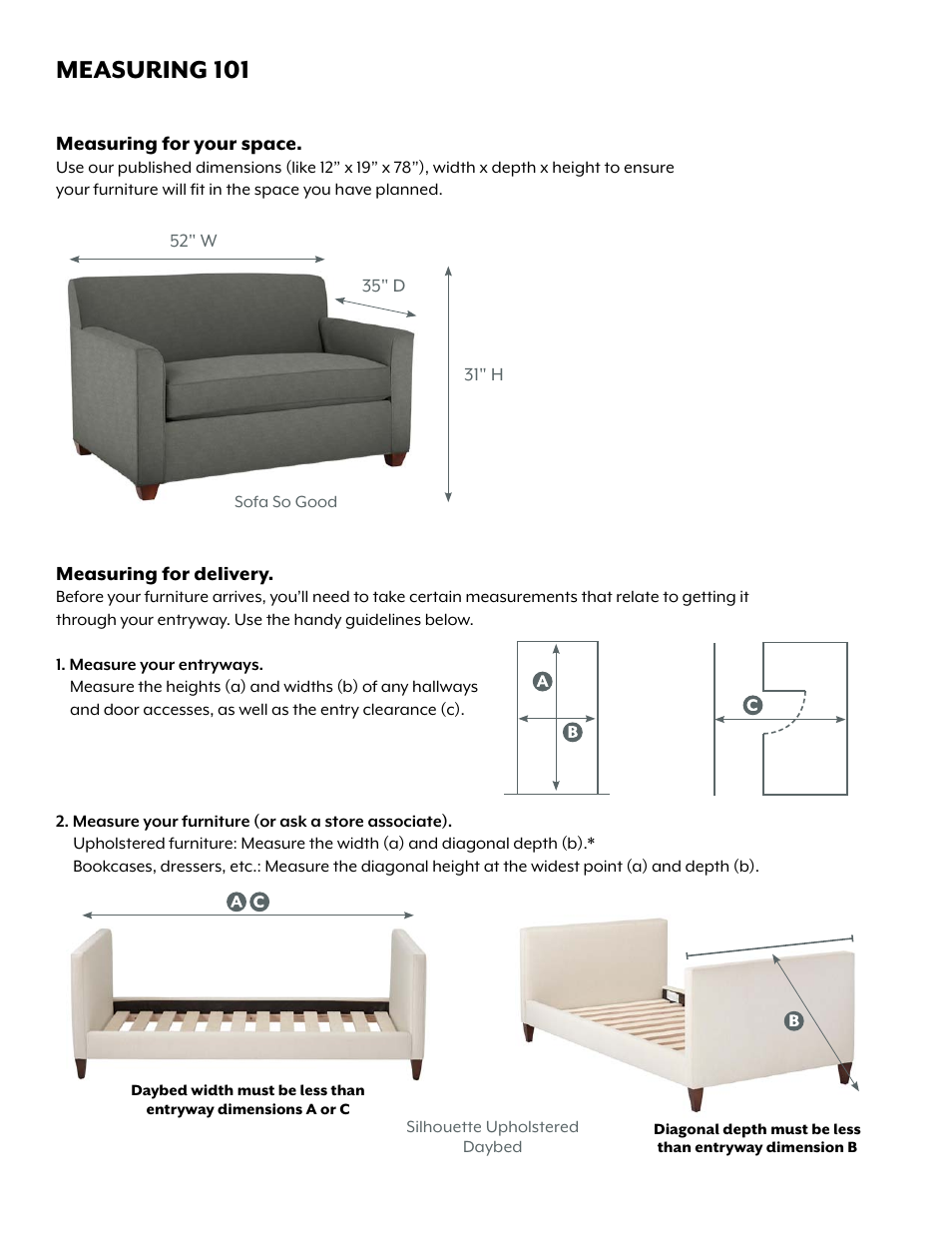 Land of nod silhouette daybed user manual 2 pages