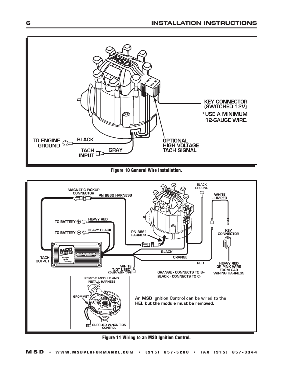 msd-8365-gm-hei-billet-distributor-installation-page6 Gm Hei Distributor Wiring Harness on tach signal, timing adjustment, wiring ground, internal parts, mechanical weights, streetfire chevrolet v8, wire diagram, wire harness, small cap, module test,