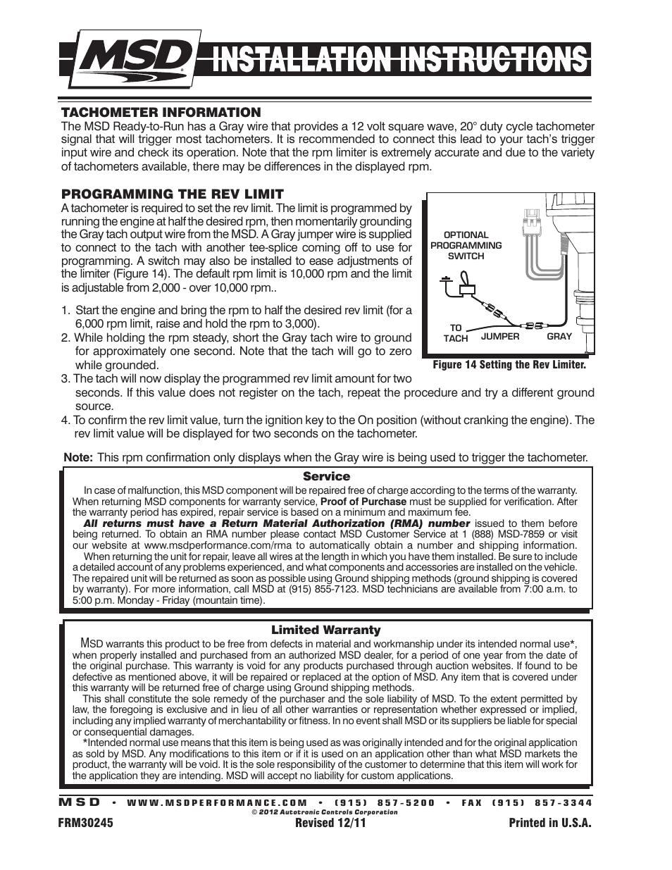 8354 Msd Distributor Wiring Detailed Schematics Diagram Ready To Run 8350 Ford 351c 460 Pro Billet Breakerless