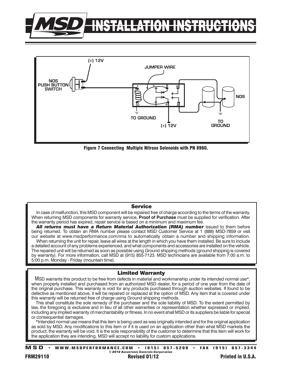 Msd 8961 Relay Wiring Instruction - House Wiring Diagram Symbols •