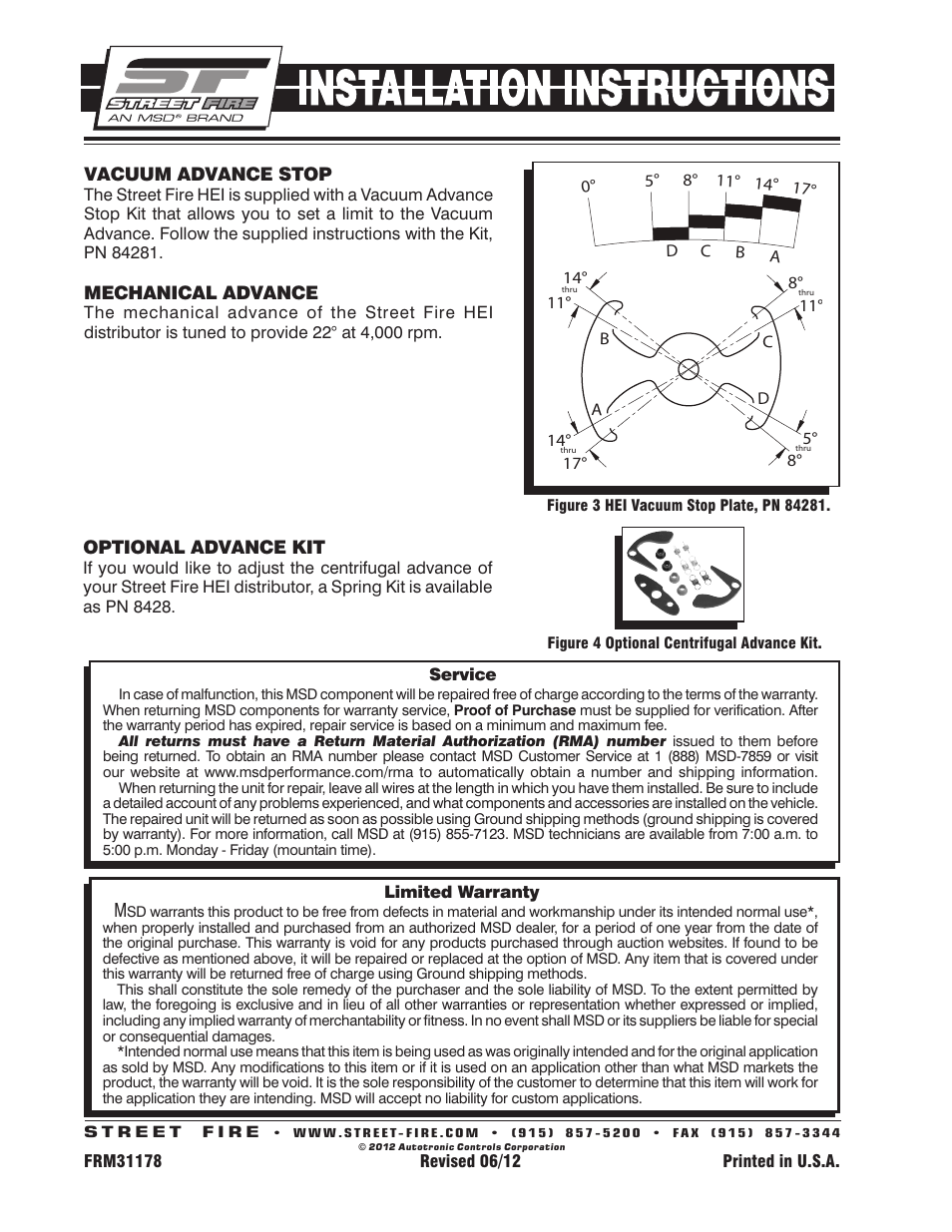 MSD 8362 Street Fire Chevrolet V8 GM HEI Distributor Installation User  Manual | Page 2 / 2