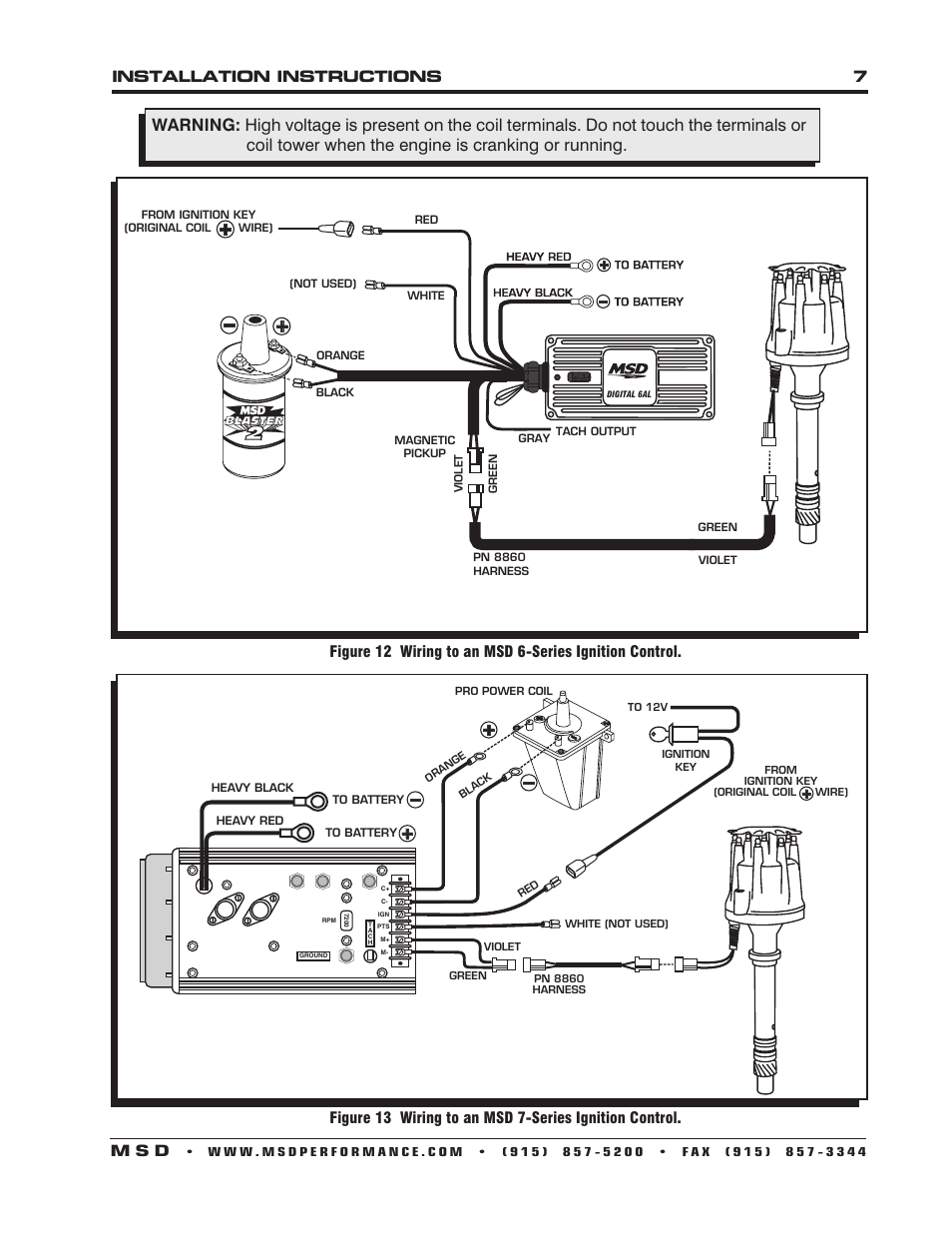 msd 6al wiring diagram for tach msd 6al wiring diagram chevy v 8 control with boost installation instructions 7 m s d | msd 85501 chevy v8 pro ...