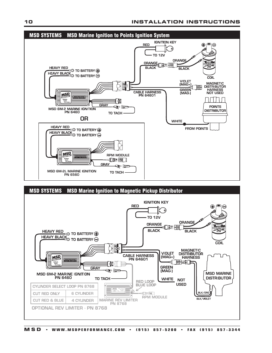 msd wiring diagram 280zx msd 6560 6m-2l marine certified ignition with rev limit ...