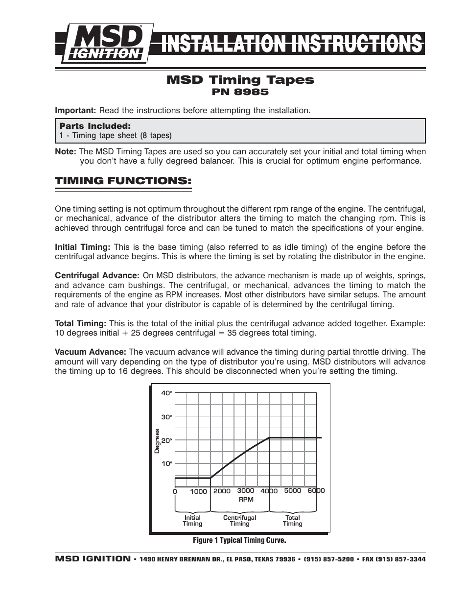 MSD 8985 Timing Tapes for Harmonic Balancers Installation
