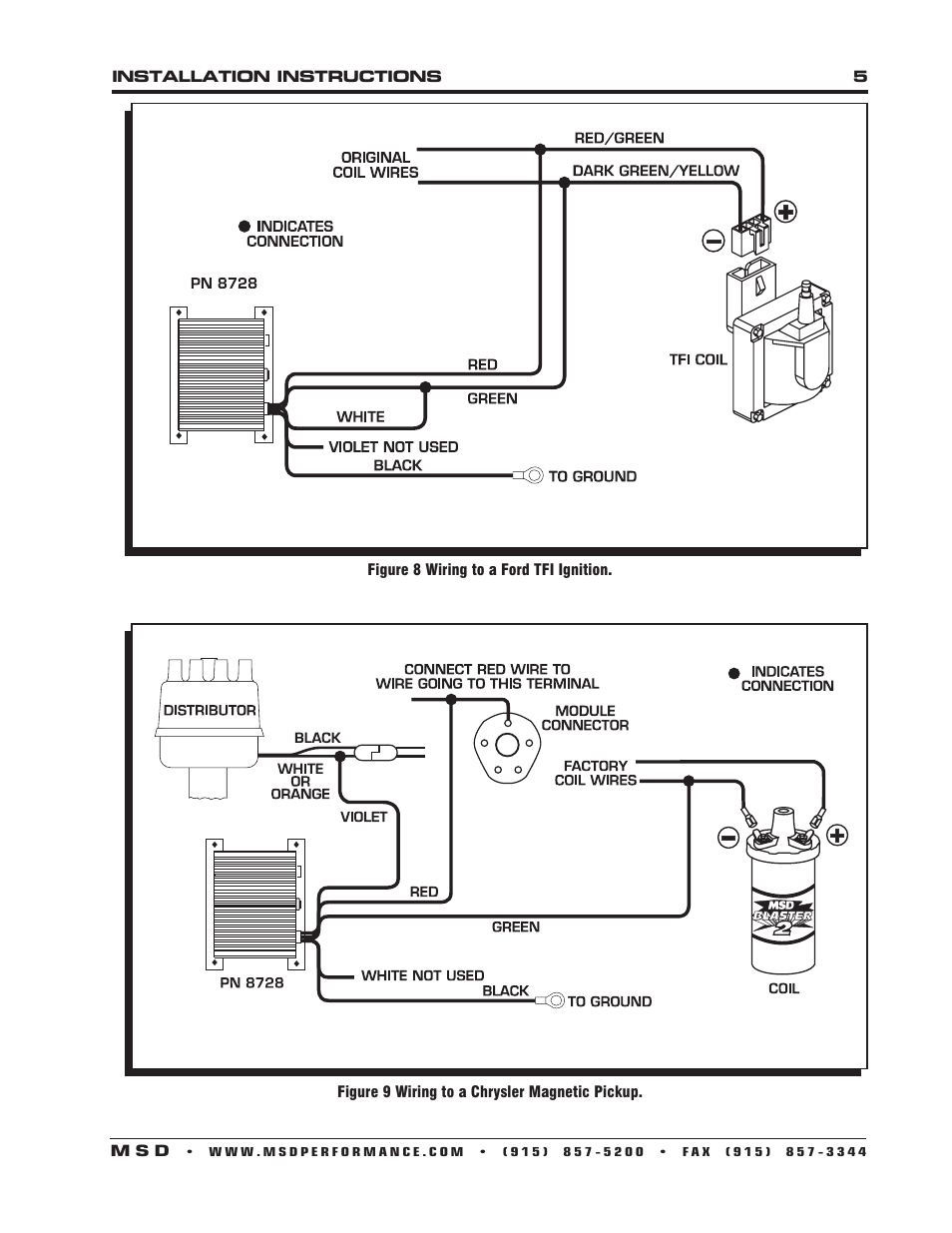 MSD    8728 Soft Touch Rev Control    Installation    User Manual   Page 5  8