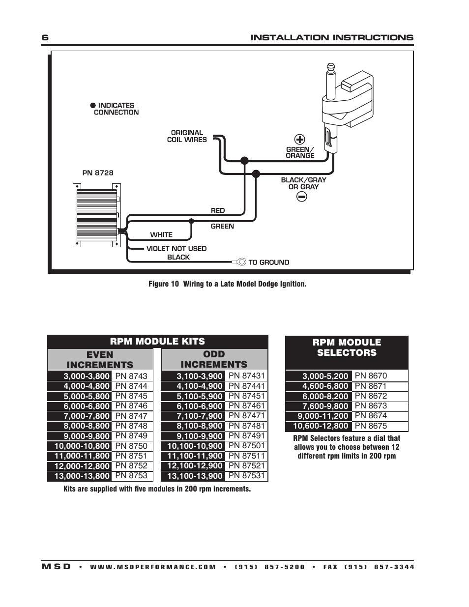 msd 8728 soft touch rev control installation user manual | page 6 / 8  manuals directory