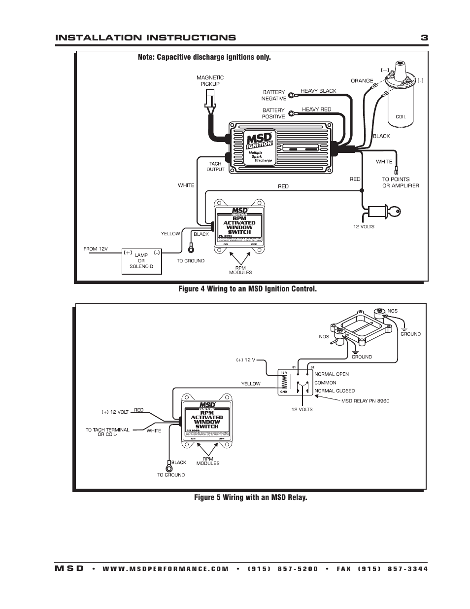 Msd 8956 Wiring Diagram For Diagrams 8739 Window Rpm Activated Switch Installation User Distributor 6al Schematic