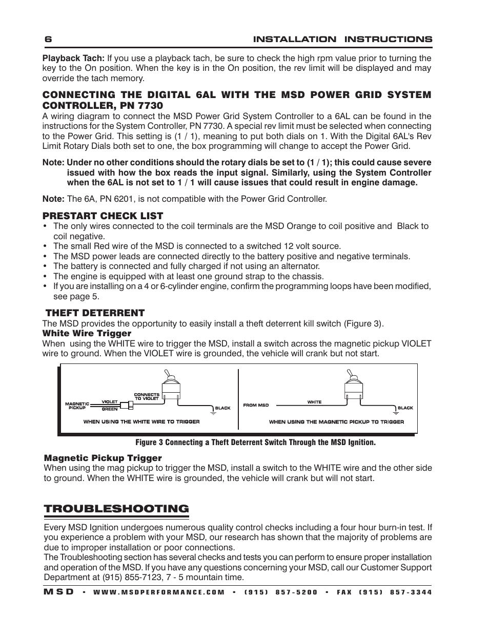 msd 6201 digital 6a ignition control user manual page 6 20 msd 6201 digital 6a ignition control user manual page 6 20 also for 6201 digital 6a ignition control installation installation