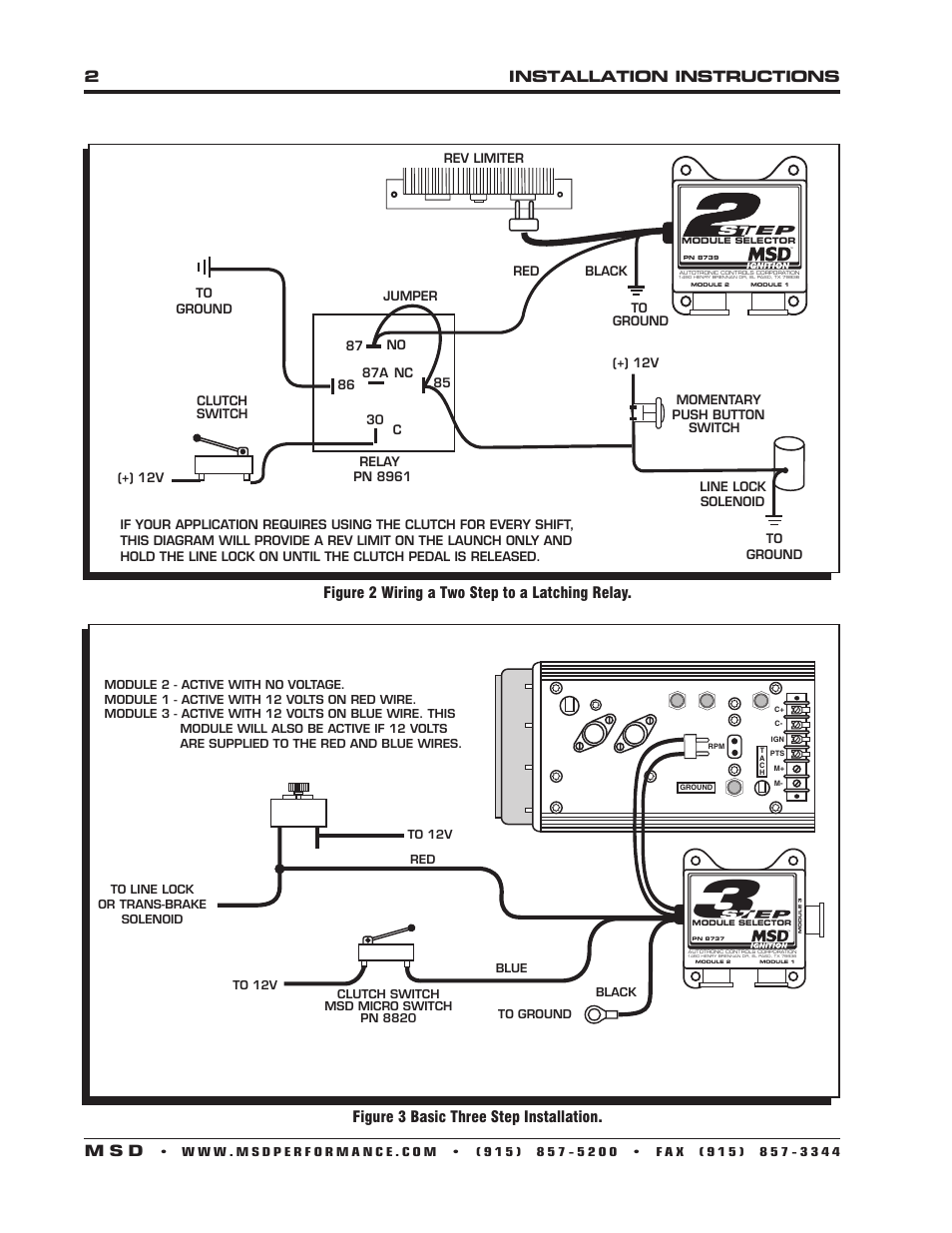 msd 2 step wiring msd 6 wiring diagrams