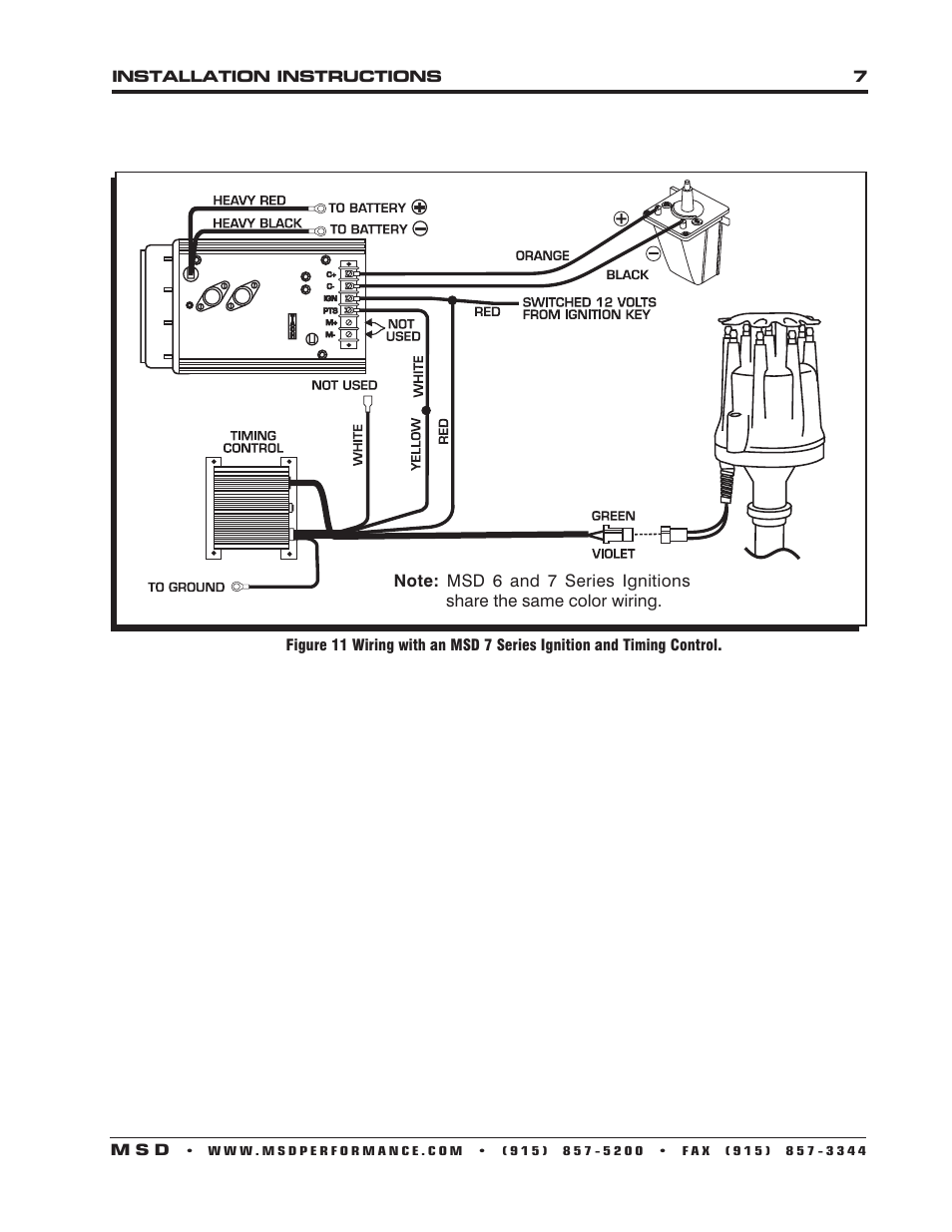 MSD 8566 Oldsmobile V8 350-455 Distributor Installation User ... Olds Distributor Wiring Diagram on