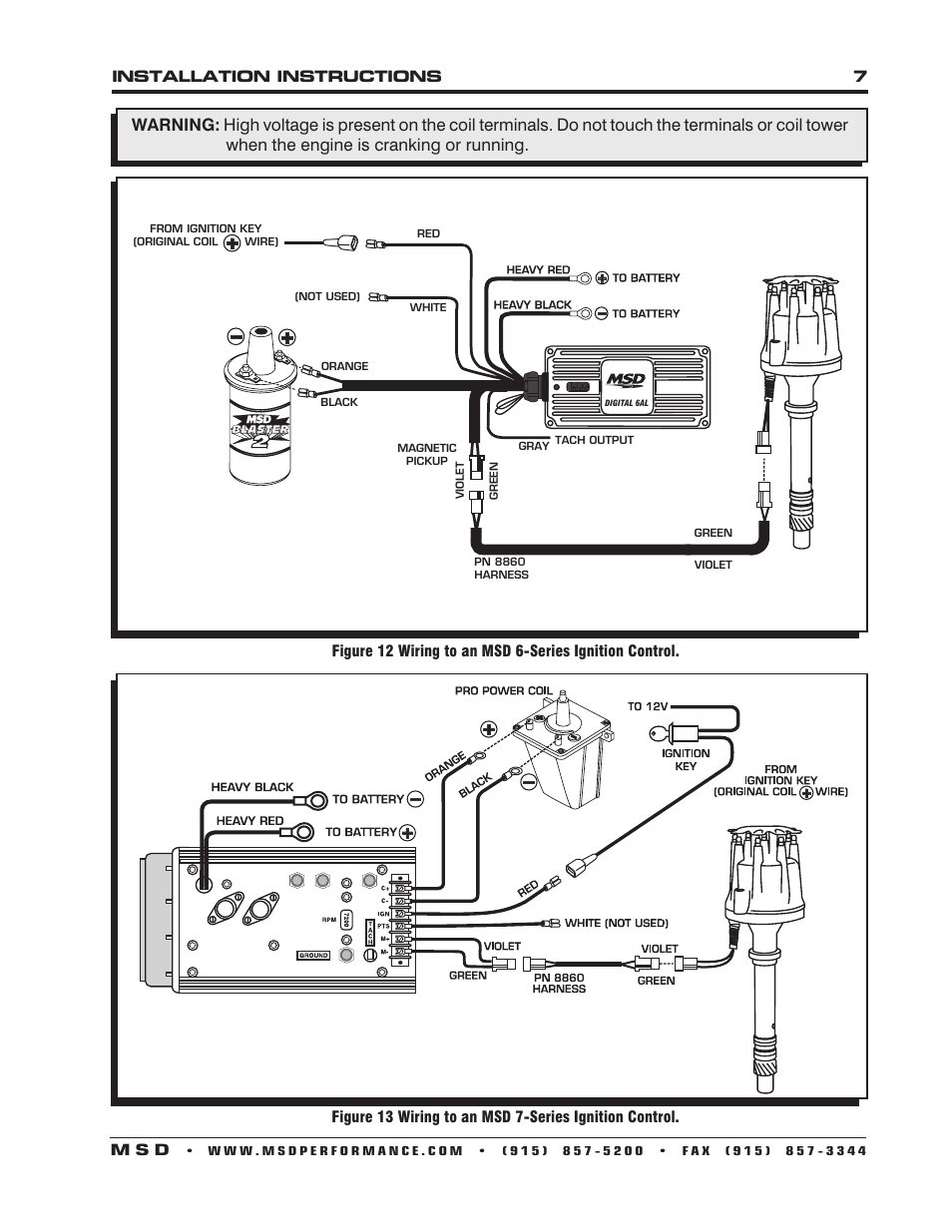 Msd 6Al Wiring Diagram With Msd Distributor from www.manualsdir.com