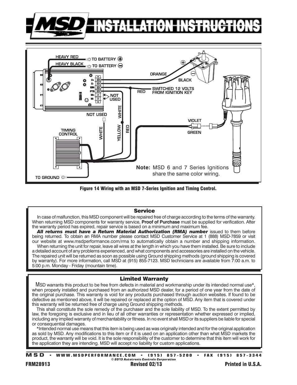 Hei Distributor Wiring Instructions Solutions 79 Chevy Diagram With Msd 8570 Data Diagrams