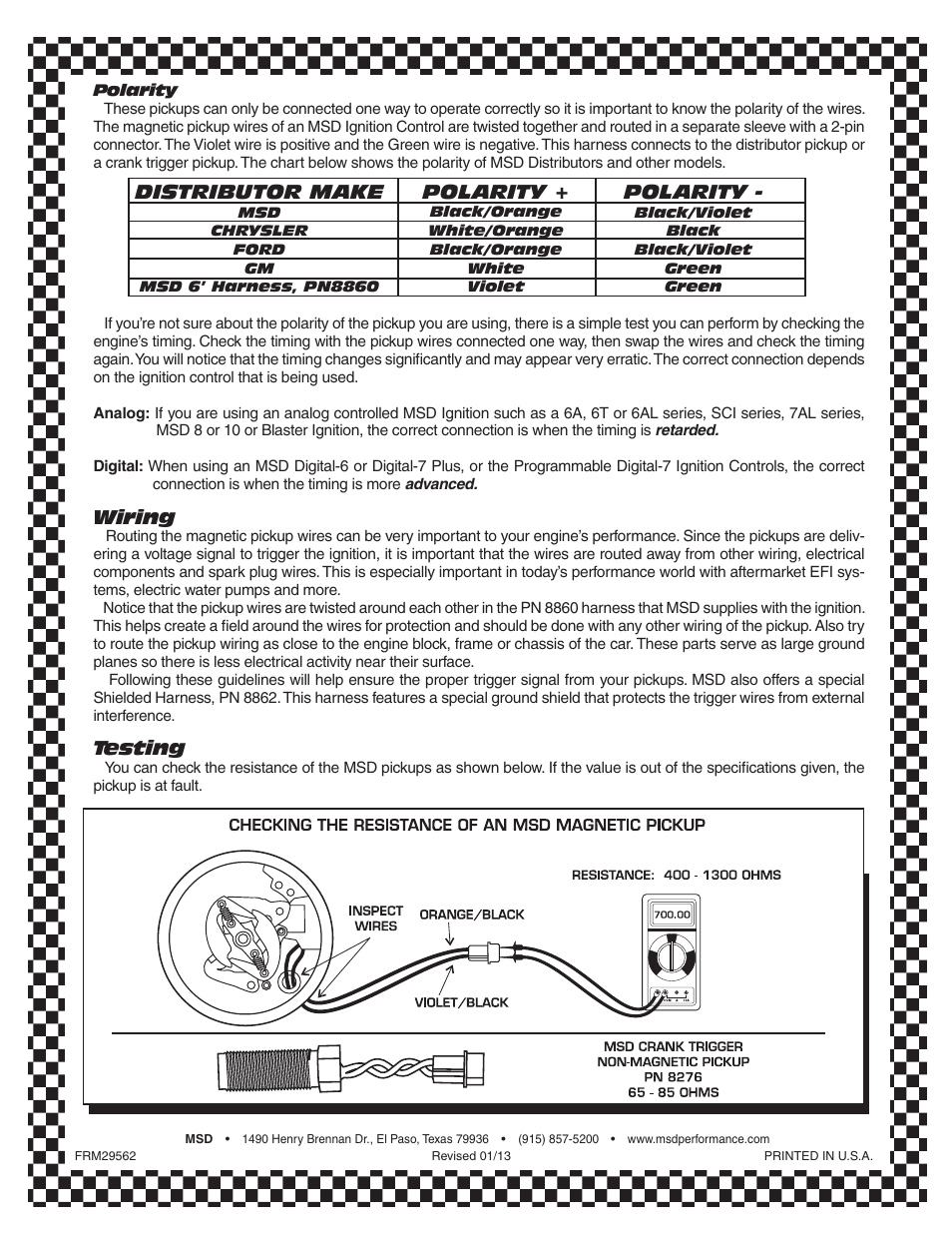 billet distributor tech bulletin user manual | page 2 / 2 | also for:  8566 oldsmobile v8 350-455 distributor tech bulletin, 8382 ford 302 dual  pickup