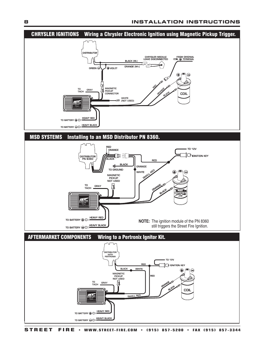 Msd Distributor 8360 Wiring Diagram Books Of Ready To Run 5520 Street Fire Ignition Control Installation User