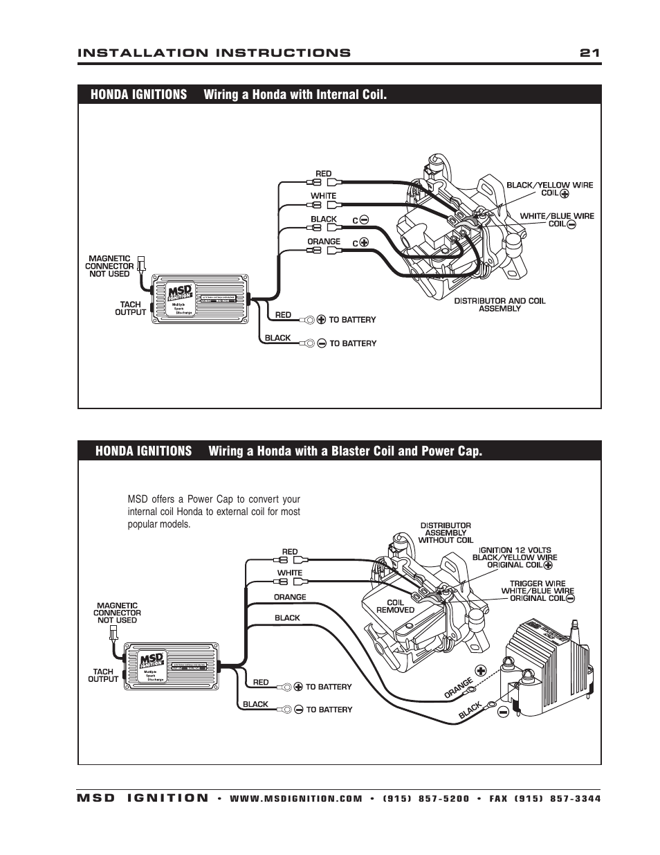 6430 Msd Wiring Diagram Diagrams Ford 460 Distributor To 6al 6aln Mallory Tach