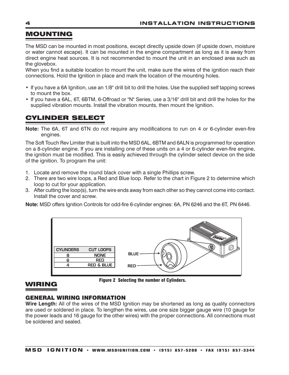 Msd Off Road Ignition Wiring Diagram Best Library 6430 6aln Control Installation User Manual Page 4 24