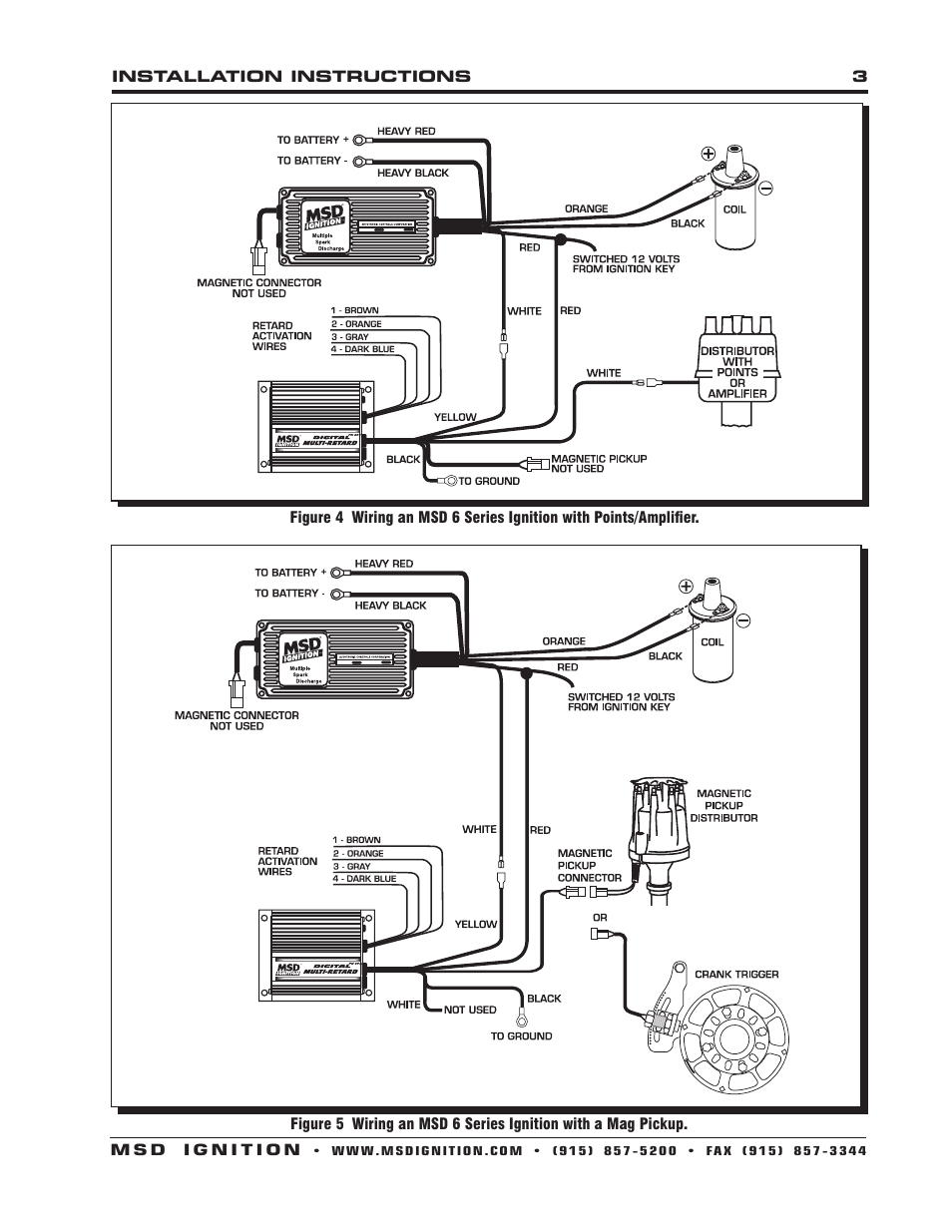 Msd 8975 Wiring Diagram Schemes 6aln For Tach Digital Multi Retard Installation User Manual Page 3 8 Rh Manualsdir Com 6al Ignition