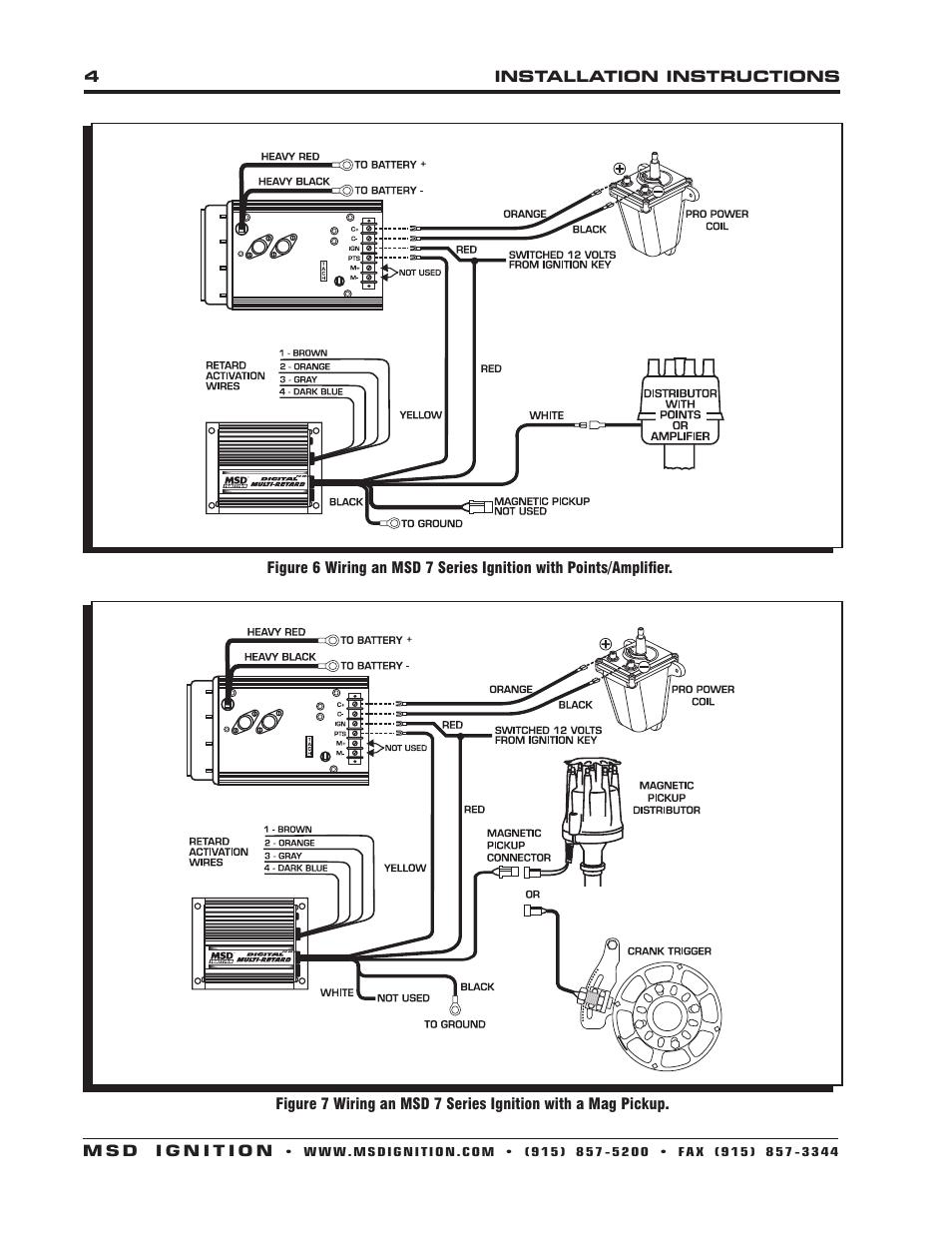 Msd 8975 Wiring Diagram Books Of Timing Retard Digital Multi Installation User Manual Page 4 8 Rh Manualsdir Com