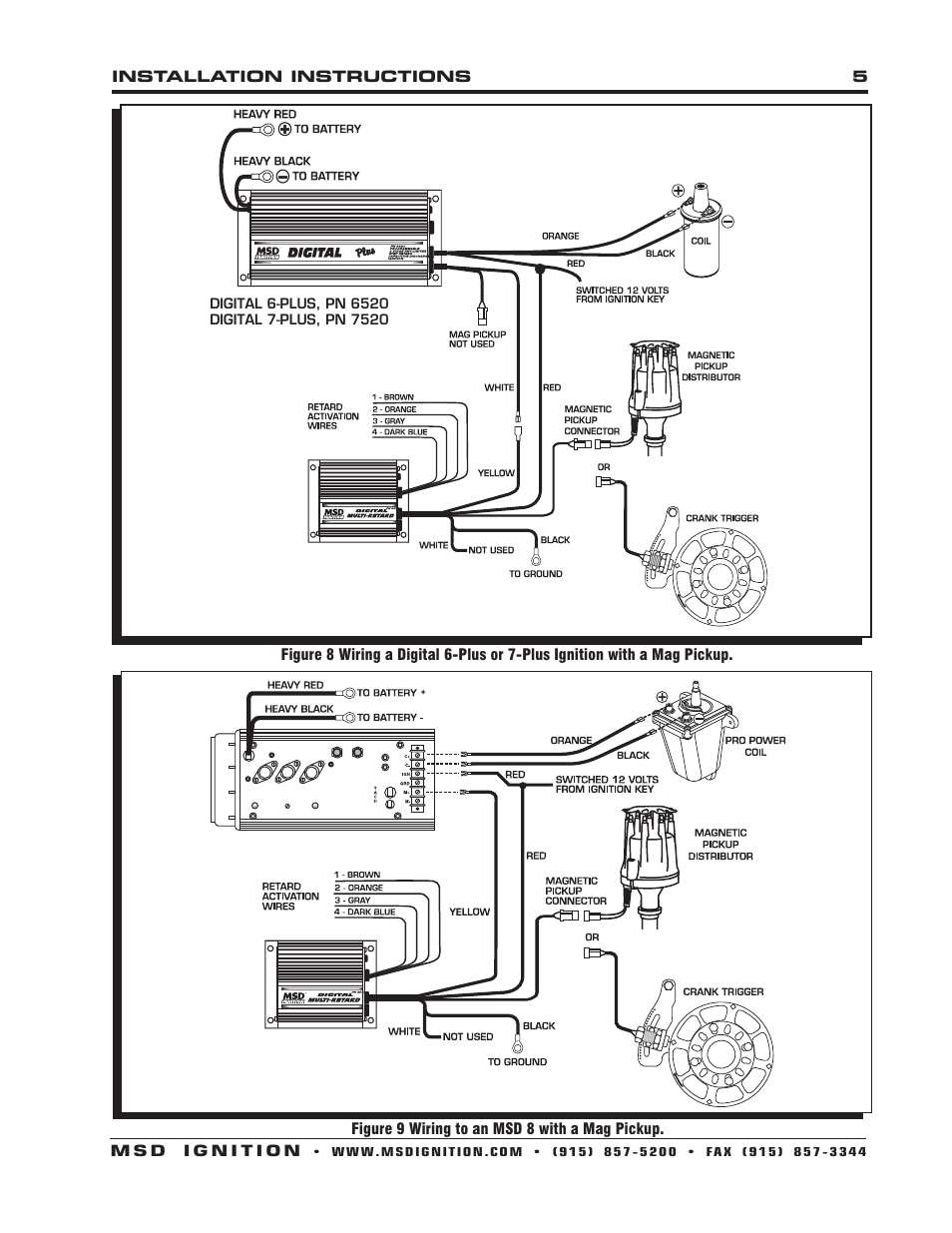 msd 5 wiring diagram msd 8975 digital multi-retard installation user manual ... msd 6520 wiring diagram #12
