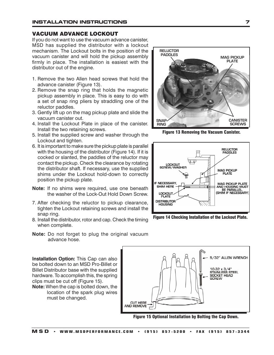 Reluctor Msd Wiring Diagram Engine Control Distributor 8573 Flathead Ford Ready To Run For 49 53 Rh Manualsdir Com 6al 6420 Gm