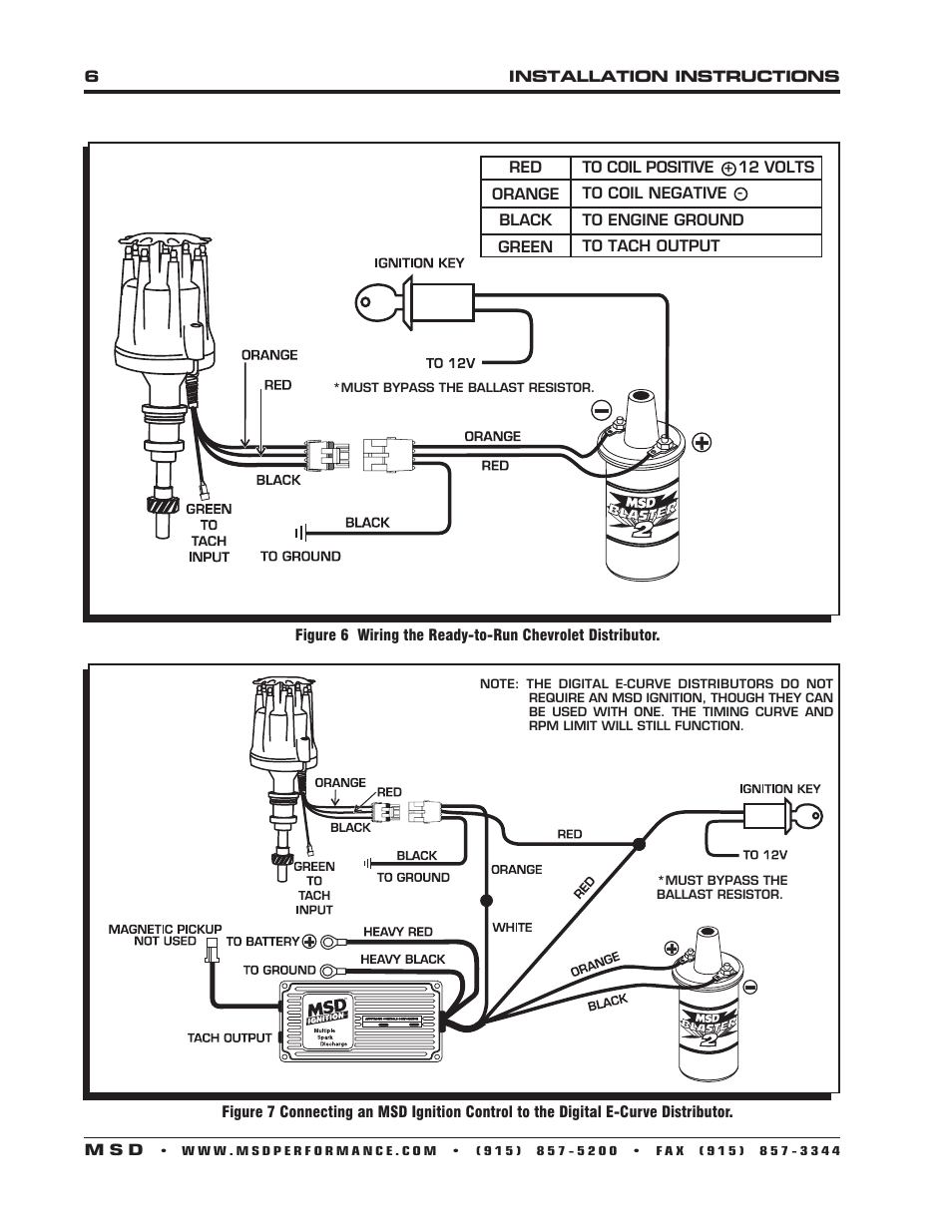 Ford 302 Distributor Wiring Diagram Schematics 94 Mustang Msd Harness 8503 289 E Curve Pro Billet Installation Standard