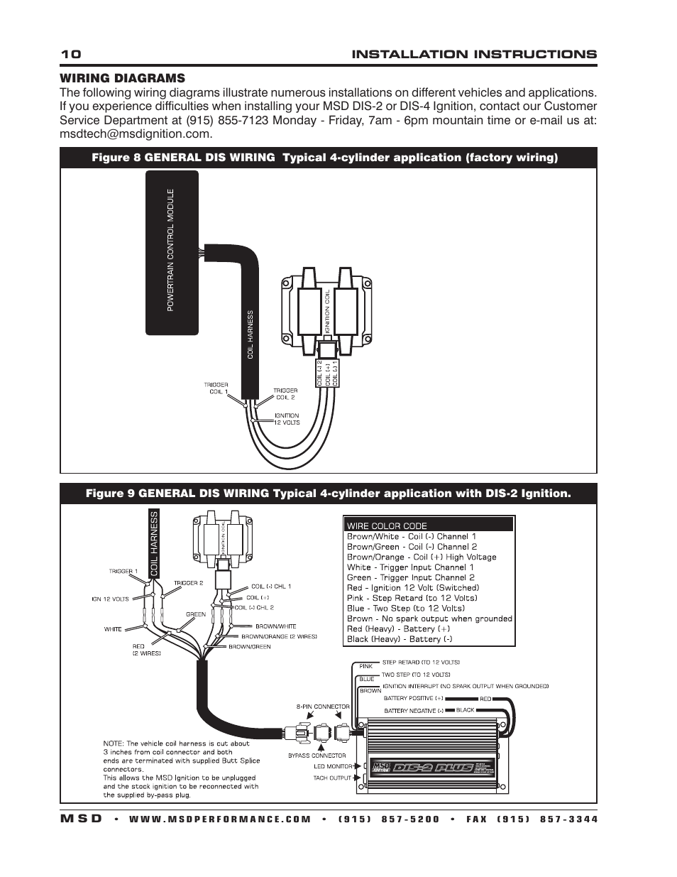 msd 62153 dis 4 plus high output installation user manual page 10 16 MSD 5 Wiring Diagram
