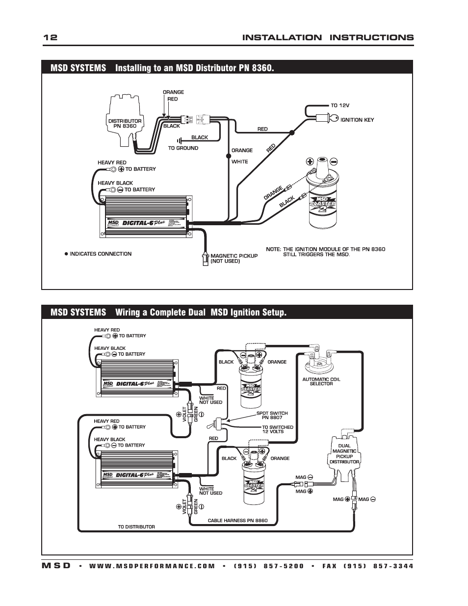 Msd 8860 Wiring Harness Automotive Diagram Ignition 6al Hei Distributor