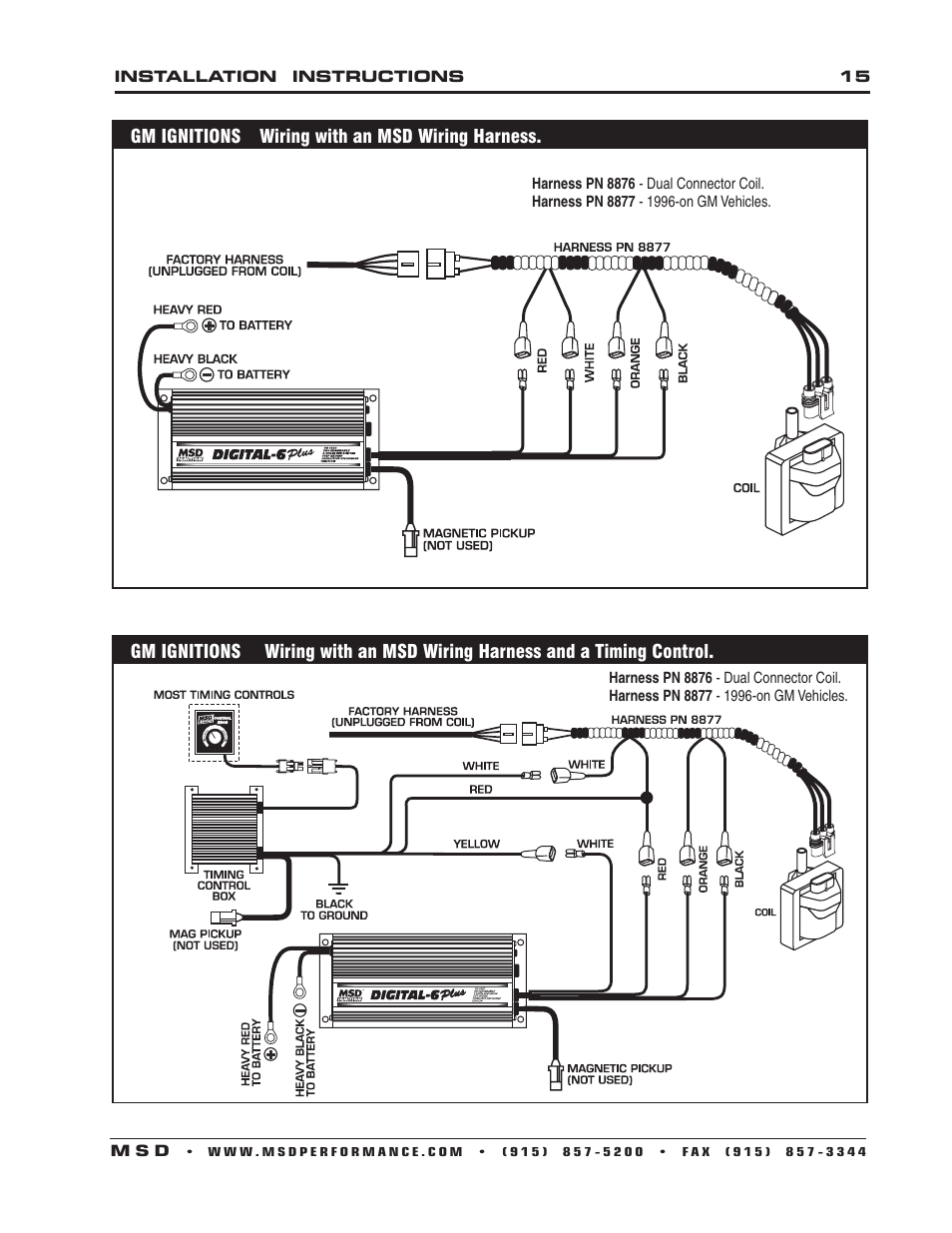 Msd 8860 Wiring Harness Manual Guide Diagram Distributor 18 Images Diagrams Honlapkeszites Co 6625