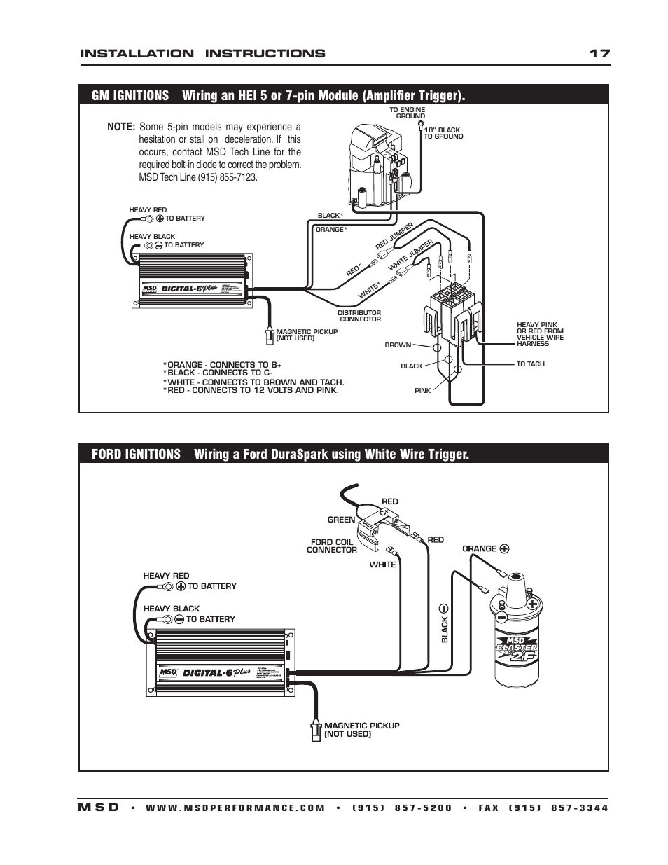 WRG-7679] Ford Duraspark To Msd Ignition Wiring Diagram on
