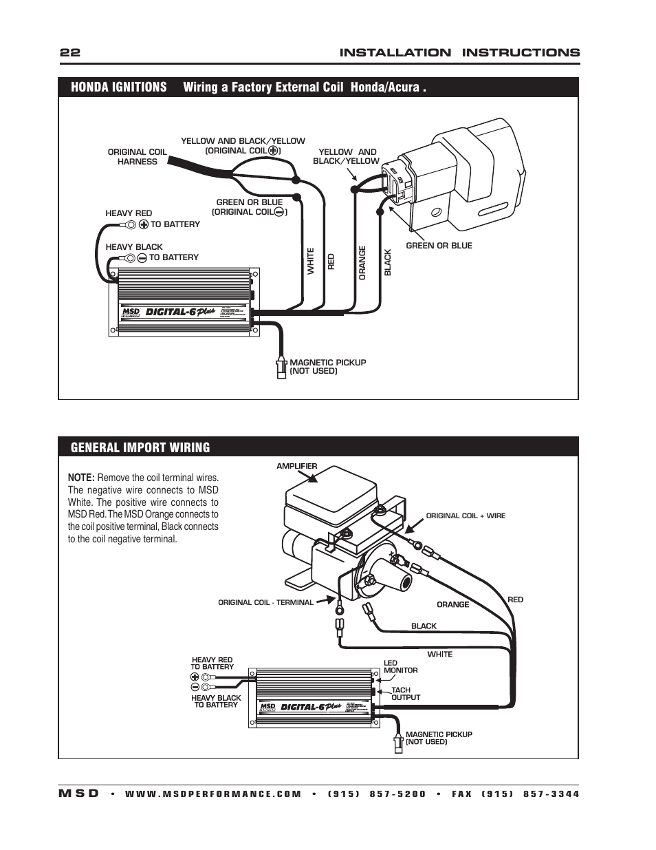 msd 6520 digital 6 plus ignition control installation page22 22 installation instructions m s d msd 6520 digital 6 plus msd digital 6 wiring diagram at readyjetset.co