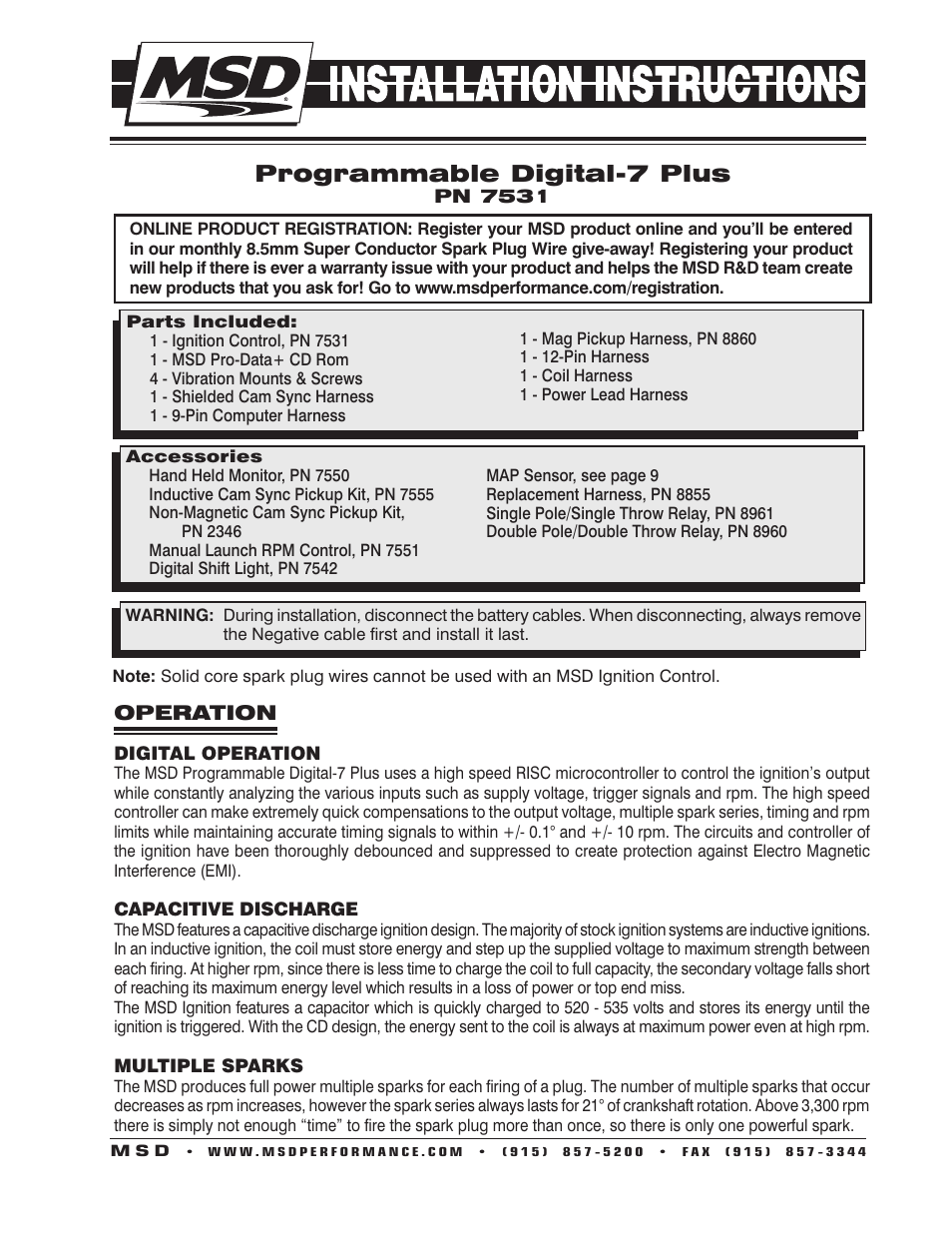 msd 7531 programmable digital 7 plus installation page1 msd 7531 programmable digital 7 plus installation user manual 20 msd 8860 wiring harness diagram at n-0.co